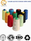 Hilo de coser del precio del alto poliester favorable de la tenacidad en varios colores