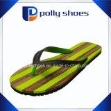 Нашивки сандалий Flop Flip Mens зеленые резиновый