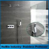 Роскошные ванные комнаты комбинированный душ заслонки смешения воздушных потоков от дождя, монтироваться на стену осадков душевой головкой из полированного системы