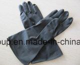 Химическая устойчивость Черные латексные перчатки промышленности