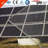 Lastra di vetro sul comitato solare con ferro basso