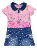 Тельняшка девушки малышей способа в одеждах детей & тельняшке Knit с котом (SV-012)