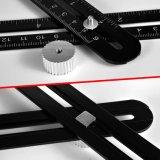Алюминиевый сплав шаблон измерения инструмент Линейка многофункциональной рукоятки