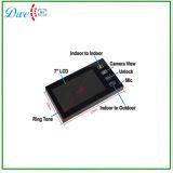 Citofono collegato colore del telefono del portello da 7 pollici video con la funzione della scheda di identificazione