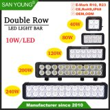 Barra de LED CREE de fileira dupla 40W 80W 120W 200W 240W Barra de luz LED