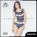 Повелительницы наиболее поздно конструируют Knit Striped износом Tankini пляжа
