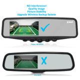 Coche inalámbrico digital cámara de visión trasera con monitor de espejo de 4,3 pulg.
