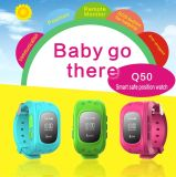 Colorful Silicone GPS Montre intelligente pour enfants
