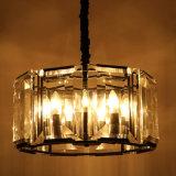 Lampada Pendant di cristallo trasparente rotonda del ferro decorativo europeo del ristorante