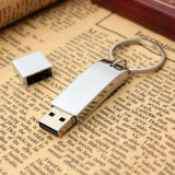 De Aandrijving van de Flits van de Stok van het Geheugen van de Sleutelring USB van het Metaal van de douane