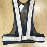 Veste de segurança LED com tecido de malha para esportes