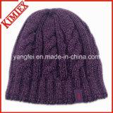 冬のウォーマーのジャカードかぎ針編みの帽子の帽子
