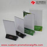 Freie stehende freie Acryltisch-Menü-Karten-Bildschirmanzeige