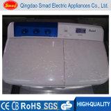 Lavatrice superiore semi automatica manuale della vasca del gemello di caricamento