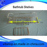 Chrome Metal Bathroom Bathtub Rack Shelf
