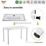Trainings-Tisch-gerader Schreibtisch mit weißes Metallrahmen u. Panel-Oberflächenklapptisch