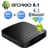T905X2 Android 8.1 4.1 4+32g Bluetooth Quad Core 1080P 4K 3D Dual Case Smart WiFi IPTV
