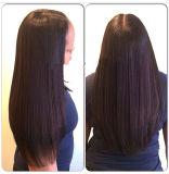 Cabelo brasileiro diretamente para um cabelo humano em bruto de cabelo Virgem de extensão de cabelo humano