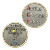 Moneta d'ottone antica su ordinazione di sfida di anniversario