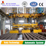 De Baksteen die van de klei Systeem in de Automatische Installatie van de Productie van de Baksteen stapelen
