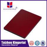 Material compuesto de aluminio de madera de la lista de precios de los materiales de construcción del gráfico de Alucoworld