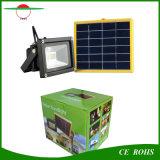 12 proiettore solare fissato al muro del comitato solare LED dell'indicatore luminoso di inondazione del giardino della lampada del prato inglese del LED SMD3528 IP65 6V 3W con la batteria 2200mAh