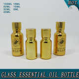 Hot Salts Electroplated Shiny Gold Glass Essential Oil Bottle