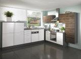 Gabinete de cozinha lustroso elevado da laca branca
