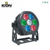 7X10W RGBW/4in1 LED NENNWERT für im Freienstadiums-Wand-Unterlegscheibe-Beleuchtung