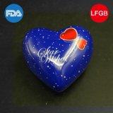 Casamento em forma de coração Caixa de lata de presente / Lembrança para amantes (H001-V1)