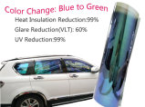 Het Blauw van het kameleon aan de Groene Film van de Tint van het Glas van het Venster van de Auto Zonne