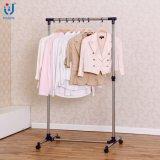 Шкаф одежды вешалки одежд штанги нержавеющей стали Extendable одиночный телескопичный