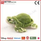 Jouet mou bourré de tortue de peluche d'animal aquatique
