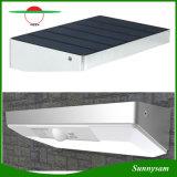 48 Sensor de movimento à prova de luz LED com estrutura em liga de alumínio de segurança exterior sem Luz Solar Luz de parede do pátio com jardim