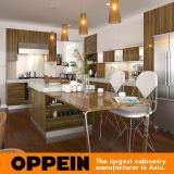 Gabinetes de cozinha de madeira modernos da melamina do console da grão de Guangdong (OP15-M09)