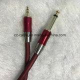 [3.5مّ] مجساميّة [فون بلوغ] إلى [6.35مّ] ميكروفون كبل