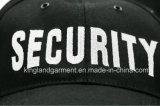 Gorra de béisbol negra militar del bordado de la seguridad del taladro del algodón