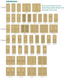 Personalizados de alta calidad Montante y carril Puerta de madera sólida