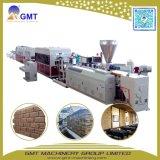 Extrudeuse en plastique de Brique-Configuration de panneau de mur de Pierre-Voie de garage de Faux de PVC faisant la machine
