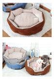 연약한 개 제품은 면 우단 애완 동물 침대를 무리를 지었다