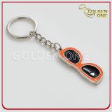 Förderung-Geschenk-kundenspezifisches Flipflop-Form-Metall Keychain