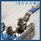 Клапан Dbb продетых нитку концов нержавеющей стали F316 Didtek