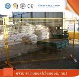 Cerca provisória revestida quente do PVC Canadá da boa qualidade da venda