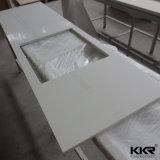 Bancadas de pedra de quartzo branca pura para sala de cozinha