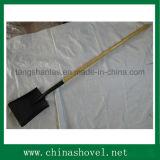 Shovel Railway Steel Shovel com Punho de Madeira Longo Popular S519L