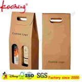 Оптовая продажа коробки перевозкы груза вина Corrugated картона Brown Kraft фабрики изготовленный на заказ с окном