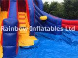 Diapositiva de agua inflable de 3 carriles con la piscina/la diapositiva al aire libre inflable