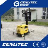 Beweglicher LED-heller Aufsatz mit Luft abgekühltem Dieselgenerator 5kw (GLT400L-5M)
