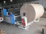 Tipo horizontal de la serie de aluminio plástica de papel del fq que raja y máquina el rebobinar