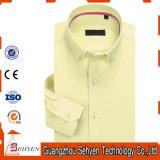 camicia di vestito convenzionale sottile dal manicotto lungo giallo 100%Cotton per gli uomini